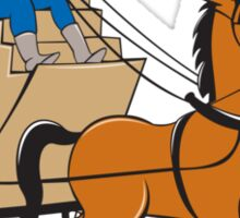 Stagecoach Driver Horse Cartoon Sticker