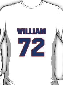 National football player William Perry jersey 72 T-Shirt