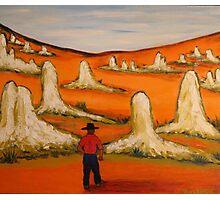 Australiana Pinnacles  EJCairns  Original Sold  Photographic Print