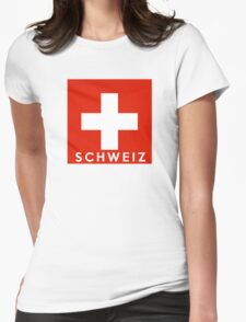 flag of Switzerland Womens Fitted T-Shirt