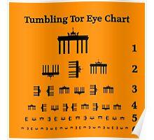Tumbling Tor Eye Chart Poster