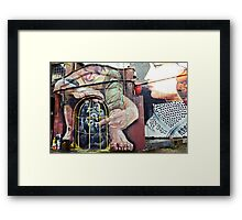 Locked peace Framed Print