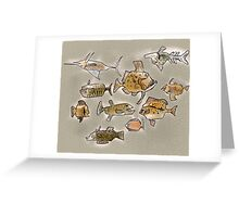 Fishes swimmish Greeting Card