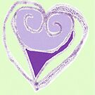 Purple & Peppermint Heart by KazM