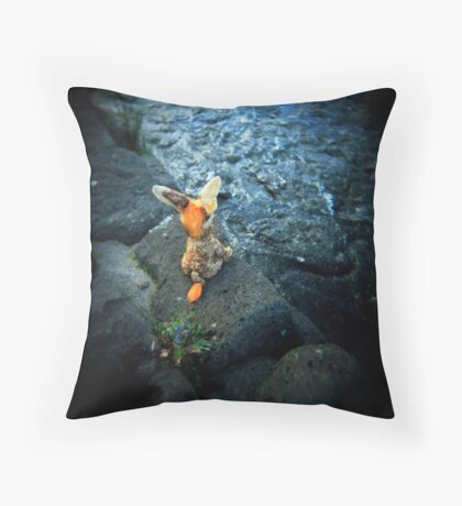 sail away with me little donkey Throw Pillow