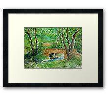 Danielle Fuchs' Bridge, Moulin De Perrot Framed Print