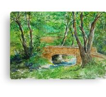 Danielle Fuchs' Bridge, Moulin De Perrot Canvas Print
