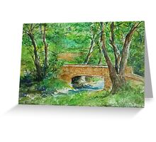 Danielle Fuchs' Bridge, Moulin De Perrot Greeting Card