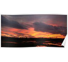 Grimethorpe Sunset Poster