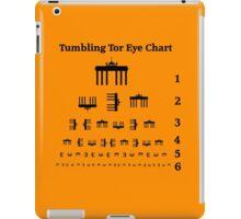 Tumbling Tor Eye Chart iPad Case/Skin