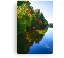 Autumn Lake Mirror - Impressions Of Fall Canvas Print