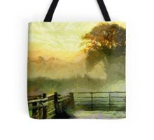 An English Country Scene in the Mist - all products Tote Bag