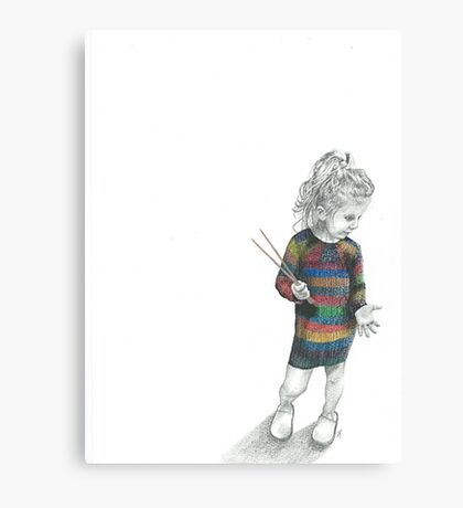 Knitted Dress Canvas Print