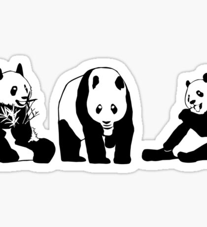 Funny panda party Sticker