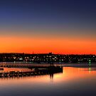Geelong at dusk by Hans Kawitzki