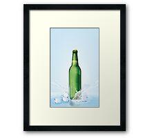 Beer Bottle vintage poster Framed Print