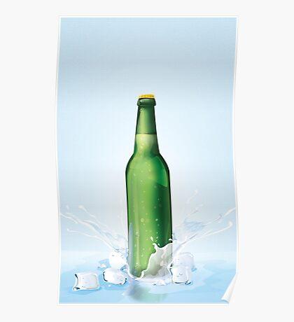Beer Bottle vintage poster Poster