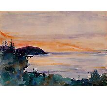 Sunset across the Bristol Channel  Photographic Print