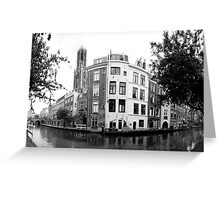 Oudegracht (Old Canal) Utrecht, The Netherlands Greeting Card