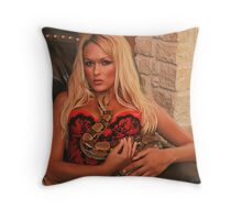 Holley with  a Snake Throw Pillow