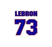 National football player Lebron Shields jersey 73 Photographic Print