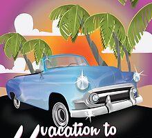 Havana, Cuba Vintage auto vacation Poster by Nick  Greenaway