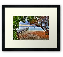 Into The Bay Framed Print