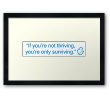 Happiness Quote Framed Print