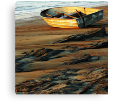 Boat Beached Canvas Print