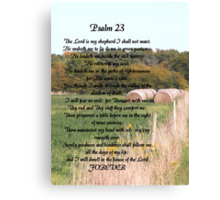 23rd Psalm Canvas Print