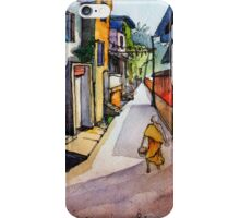 landscape watercolor Indian village iPhone Case/Skin
