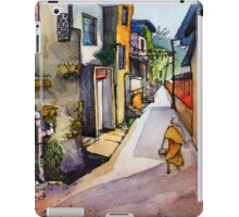 landscape watercolor Indian village iPad Case/Skin