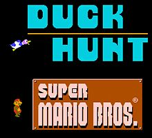 Duck Hunt and Super Mario Bros by dekuscrub99