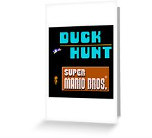 Duck Hunt and Super Mario Bros Greeting Card