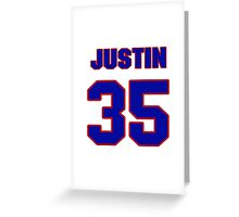 National football player Justin Rogers jersey 35 Greeting Card