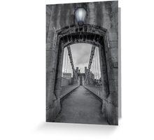 Conwy Suspension Bridge Greeting Card