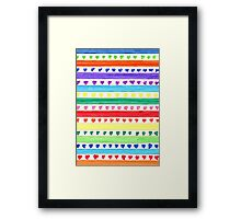 LOVE STRIPES Framed Print