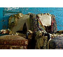 A Perfect Pair: Imperfect Chairs Photographic Print