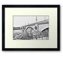 London Bridge, Lake Havasu City, Arizona  Framed Print