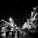 Busy Night Streets B&W by Lindsey McKnight