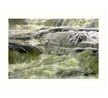 Winter Water Fall Art Print