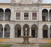 Courtyard at University of Evora, Portugal by chord0