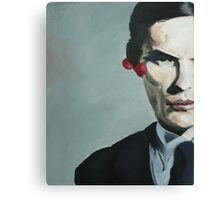 man with cherries Canvas Print