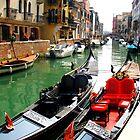 Gondolas, Venice by Honor Kyne