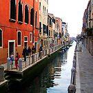 Colourful Street, Venice by Honor Kyne