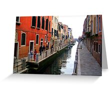 Colourful Street, Venice Greeting Card