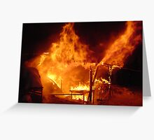 Shed Fire Greeting Card