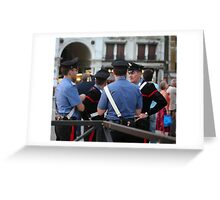 Cop Stop Greeting Card