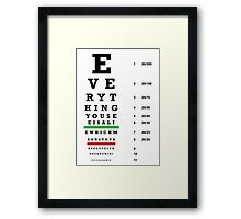 lie chart Framed Print