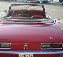 CAMARO!  Rear View ~ 1968 Chevrolet Convertible by Diane Trummer Sullivan